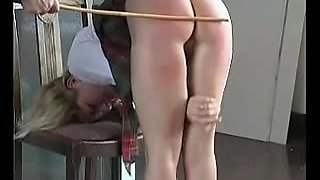 video titel: Nice looking schoolgirl gets some bare butt spanking || porn tgas: amateur,ass,big ass,blonde,upornia
