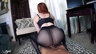 video titel: Premature Ejaculation with the Girl of Your Dreams POV Pantyhose FEMDOM || porn tgas: amateur,big ass,dreams,femdom,
