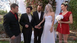 video titel: Blind folded bride Natasha Starr is fucked by groom and several dudes || porn tgas: 4some,anal,bbc,black,anysex