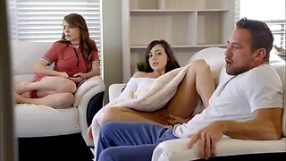 video titel: Step dad fuck both daughters || porn tgas: blonde,daddy,daughter,deepthroat,xxxdan