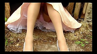 video titel: Summer dress nylon stockings at the farm || porn tgas: heels,high definition,latex,lingerie,