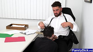 video titel: Horny twink grabs stepdaddys big cock under the table || porn tgas: big cock,horny,table,iceporn