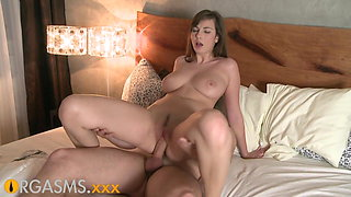 video titel: ORGASMS Big breasted brunette orgasms through intimate sex || porn tgas: babe,big tits,breasts,brunette,xhamster