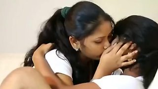 video titel: Cuties tries their first lesbo    porn tgas: babe,cute,first time,indian,