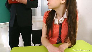 video titel: Pigtailed college babe Julia is molested by a horny teacher || porn tgas: babe,college,horny,teacher,yourlust