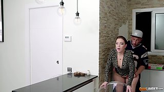 video titel: Awesome cowgirl fuck in the kitchen with energetic Paola Guerra || porn tgas: anal,awesome,big tits,blowjob,anyporn