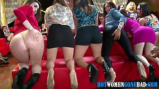video titel: Stripper with a huge dick getting head from party sluts    porn tgas: blowjob,brunette,cfnm,group,jizzbunker