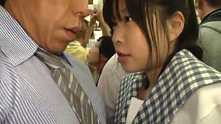 video titel: Japanese School Girls Getting Touched and Kissed in Public Bus || porn tgas: asian,car,couple,handjob,anyporn