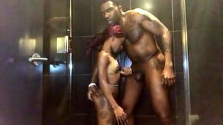 video titel: Sex in the shower With Mini Stallion || porn tgas: african,bathroom,black,old man,xhamster
