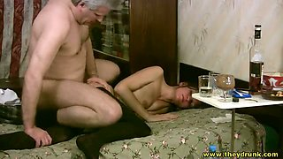 video titel: Look like this old fart is having a great sex with a hot slut || porn tgas: blowjob,casting,classic,doggy,mylust