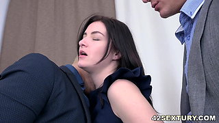video titel: Threesome in the office and a DP || porn tgas: 3some,office,xhamster