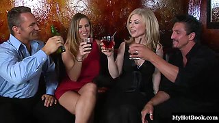 video titel: Devon and Nina decided to share their hot bodies || porn tgas: 4some,cougar,drunk,group,bravotube