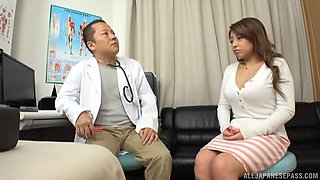 video titel: Pretty brunette hottie gets her pussy banged by a doctor || porn tgas: banged,big tits,brunette,couple,anyporn