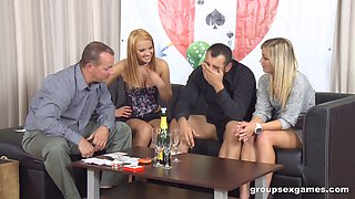 video titel: Two couples have dinner, drinks then swap partners and fuck || porn tgas: 4some,couple,drunk,fuck,bravotube