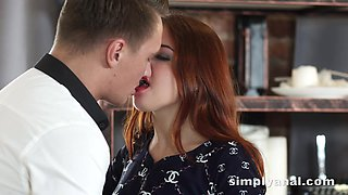 video titel: Charming ginger girl Renata Fox gets her anus fucked for the first time || porn tgas: anus,charming,first time,fuck,anysex