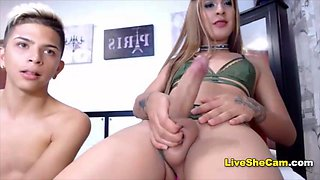 video titel: Monstercock latina gets blowjob by friend    porn tgas: blowjob,friend,latin,monster cock,xhamster