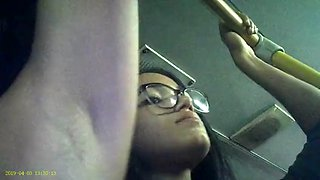 video titel: Candid voyeur of latino woman armpit on bus || porn tgas: car,latin,voyeur,jizzbunker