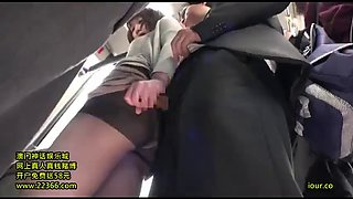 video titel: Dressed in a black pantyhose ol molested in a crowded bus || porn tgas: black,car,pantyhose,xxxdan