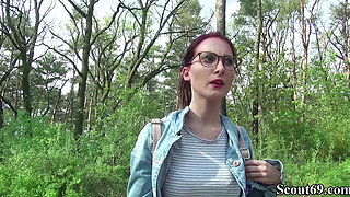 video titel: German Scout College Redhead Teen Lia in Public Casting || porn tgas: casting,college,german,public,