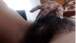 video titel: Hairy MILF Runs her Fingers through her Bush    porn tgas: bisexual,closeup,fingering,hairy,xhamster