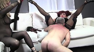 video titel: Nina Hartley, Sexy Vanessa and Jay Crew Hot Ass Licking || porn tgas: 3some,ass,blonde,femdom,nuvid
