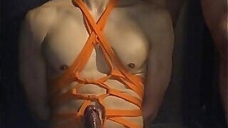 video titel: Muscular asian submissive hunk Tied up and tape gagged tightly || porn tgas: asian,bondage,fitness,gay,PornoSex