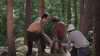 video titel: Four Horny Lumberjacks Abuse Camille Keaton Outdoors In The Forest || porn tgas: abuse,horny,outdoor,park,bravotube