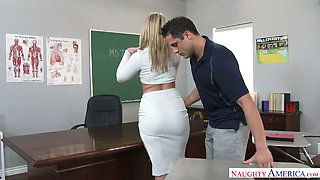 video titel: Extremely sexy big racked blonde professor was fucked right on the table || porn tgas: ass,big tits,blonde,blowjob,xcafe