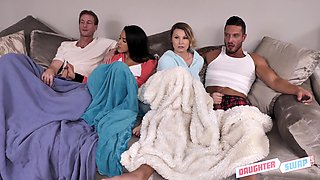 video titel: Cara May in a swinger sex session with another couple gets a cum shot    porn tgas: 4some,anal,ass,couple,bravotube