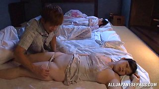 video titel: A guy wakes his sleeping Japanese wife by sucking her nipples || porn tgas: asian,blowjob,gay,japanese,anyporn