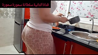 video titel: Big booty Arab MILF prepare dinner || porn tgas: amateur,arab,bbw,big ass,bravotube