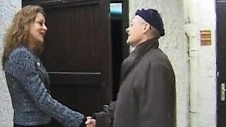 video titel: Old man humiliated by a horny femdom mistress || porn tgas: amateur,blonde,femdom,fetish,upornia