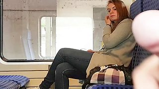 video titel: in the train || porn tgas: amateur,brunette,flashing,voyeur,xxxdan