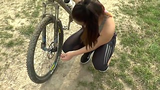 video titel: Geile fahrradtour || porn tgas: amateur,blowjob,european,german,