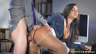 video titel: susy gala leaned on the desk and got pussy pounded || porn tgas: big cock,brunette,hardcore,latin,xxxdan