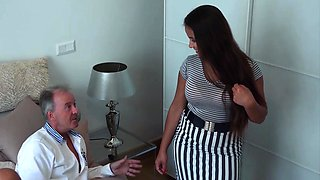 video titel: Grandpa Fucks Teen old tight pussy in bedroom || porn tgas: 18 years old,bed,blowjob,fuck,iceporn