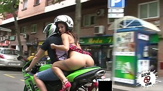 video titel: Pantless slut in super short skirt Susy Gala is riding a motorcycle before crazy sex || porn tgas: crazy,old man,riding,skirt,anysex