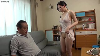 video titel: Young wife father inlaw || porn tgas: asian,brunette,daddy,father,