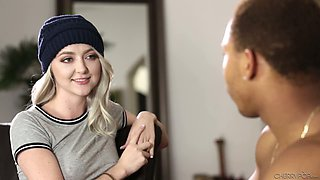 video titel: Cute light haired gal in knitted hat Iris Rose gives a nice blowjob    porn tgas: beautiful,blonde,blowjob,cute,yourlust