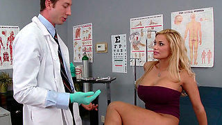 video titel: Busty blondie Shyla Stylez makes her gynecologist lick her pussy || porn tgas: big tits,blonde,blowjob,busty,anysex