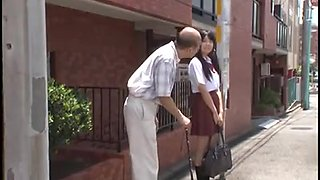 video titel: young jap schoolgirl is seduced by old man in bus || porn tgas: asian,car,fun,japanese,
