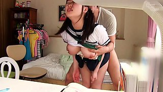 video titel: Pigtailed Asian schoolgirl learns a lesson in hardcore sex || porn tgas: asian,big tits,cumshots,hardcore,
