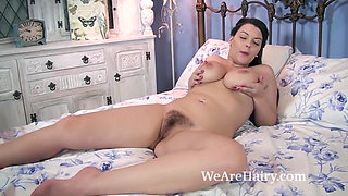 video titel: A busty and sexy Cherry Blush strips naked in bed || porn tgas: bed,busty,naked,sexy,xhamster