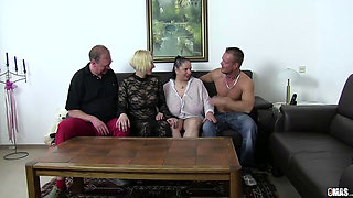 video titel: XxxOmas Fat German slut gets fucked hard in foursome || porn tgas: 4some,bbw,blowjob,cougar,pornone_com