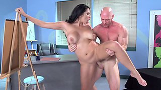 video titel: Curvy art model and a horny student fucking after class || porn tgas: curvy,fuck,horny,model,pornid