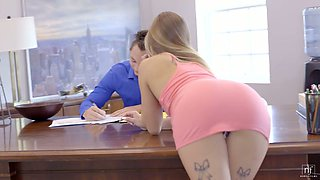 video titel: Natural light haired American babe Sydney Cole gives dude a darn good BJ || porn tgas: american,babe,dude,natural,xcafe