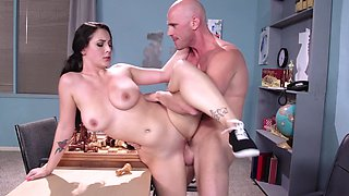 video titel: A fine lady with a nice pair of tits is fucked on the table    porn tgas: fuck,lady,table,tits,pornid