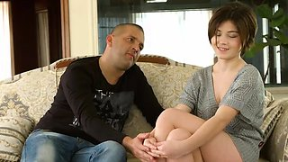 video titel: Cute short haired virgin Marfa Piroshka is shy on casting || porn tgas: big tits,brunette,casting,cute,drtuber