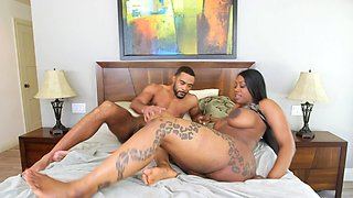 video titel: A huge ass black chick is getting fucked and cumshot on the bed || porn tgas: bed,black,chick,cumshots,pornid