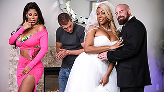 video titel: Bridgette B Moriah Mills Xander Corvus in Moriahs Wedding Shower || porn tgas: 3some,big ass,big tits,bride,videotxxx